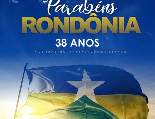 4 de Janeiro – Aniversário de Rondônia.
